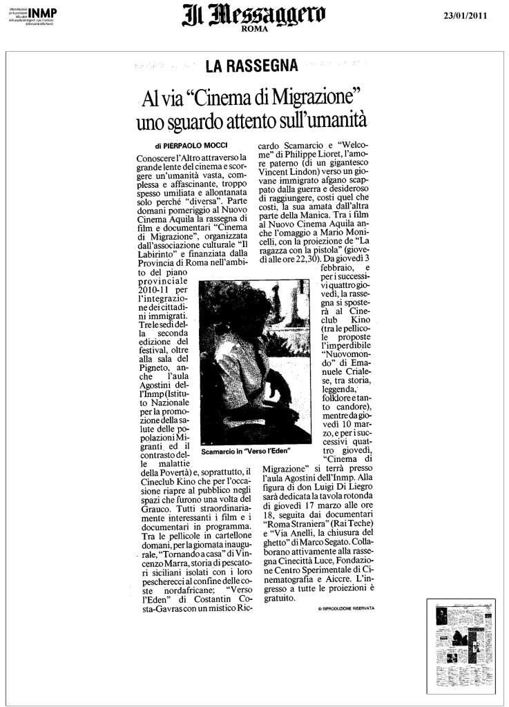 messaggero23-01-2011